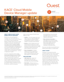 KACE Cloud Mobile Device Manger Update - What's New