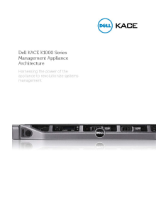KACE K1000 Series Management Appliances Architecture