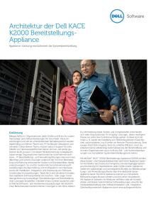 KACE K2000 Series Deployment Appliances Architecture