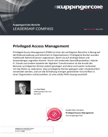 KuppingerCole Leadership Compass 2020 für Privileged Access Management