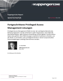KuppingerCole Whitepaper: Fortgeschrittene Privileged Access Management Lösungen