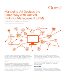 Managing All Devices with Unified Endpoint Management (UEM)