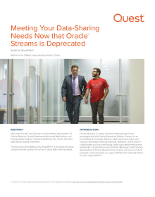 Meeting Your Data-Sharing Needs Now that Oracle Streams is Deprecated
