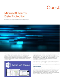 Data Protection for Microsoft Teams