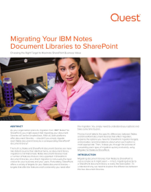 Migrating Your IBM Notes Document Libraries to SharePoint: Choosing the Right Target to Maximize SharePoint Business Value