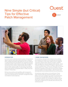 White Paper: Nine Simple (but Critical) Tips for Effective Patch Management