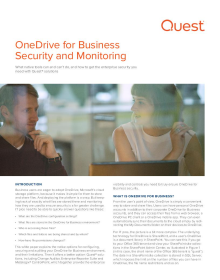 OneDrive for Business Security and Monitoring