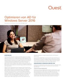 Optimieren von AD für Windows Server 2016