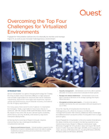 Overcoming the Top Four Challenges for Virtualized Environments