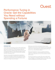 Performance Tuning in Oracle: Get the Capabilities You Need without Spending a Fortune