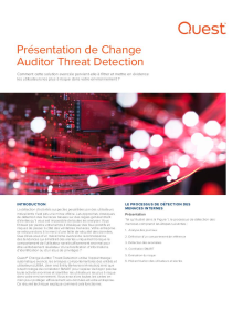 Présentation de Change Auditor Threat Detection