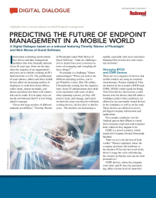 Predicting the Future of Endpoint Management in a Mobile World