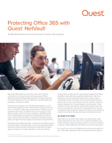 Protecting Office 365 with Quest NetVault