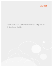QoreStor Software Developer Kit User Guide