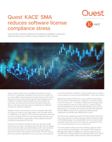 Quest KACE SMA reduces software license compliance stress