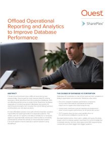 Offload Operational Reporting and Analytics to Improve Database Performance