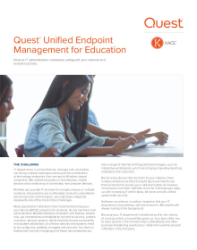 Quest® Unified Endpoint Management for Education