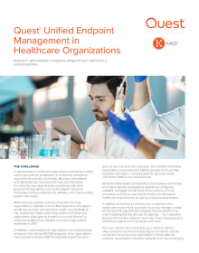 Quest®  Unified Endpoint Management in Healthcare Organizations