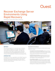 Recover Exchange Server Environments Using Rapid Recovery