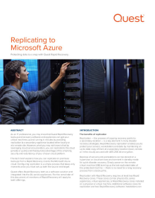 Replicating to Microsoft Azure with Rapid Recovery