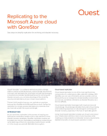 Replicating to the Microsoft Azure cloud with QoreStor