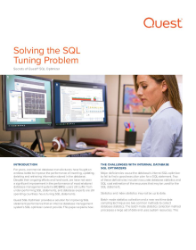 Solving the SQL Tuning Problem - Secrets of the SQL Optimizer