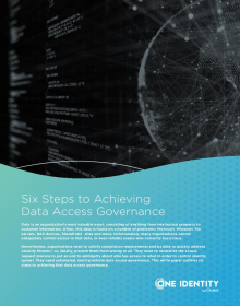 Six Steps to Achieving Data Access Governance