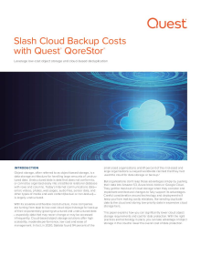 Slash Cloud Backup Costs with Quest® QoreStor®