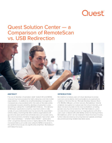 Solution Center - a comparison of RemoteScan vs. USB redirection