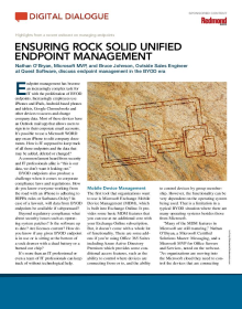 Redmond-Ensuring Rock-Solid Unified Endpoint Management