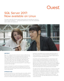 SQL Server Is Now Available on Linux