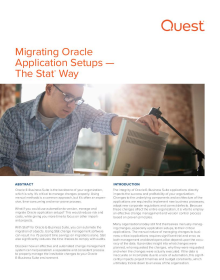Migrating Oracle Application Setups | The Stat®  Way