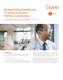 Streamlining Healthcare IT while Ensuring HIPAA Compliance