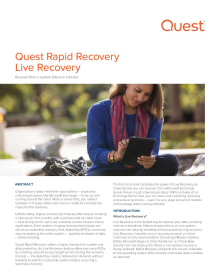 Rapid Recovery Live Recovery