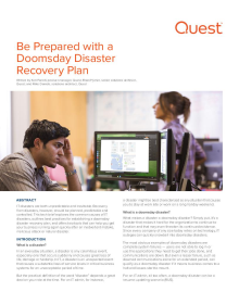 Be Prepared with a Doomsday Disaster Recovery Plan