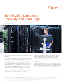 Tech Brief: Take MySQL Databases Seriously with Toad Edge™