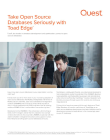 Tech Brief: Take Open Source Database Seriously with Toad Edge