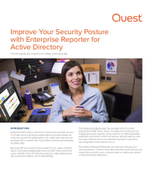Improve Your Security Posture with Enterprise Reporter for Active Directory