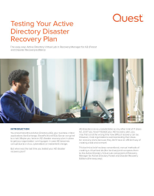 Testing Your Active Directory Disaster Recovery Plan - The Hard Way vs. The Easy Way