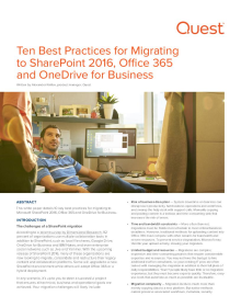 Ten Best Practices for Migrating to SharePoint 2016, Office 365 and OneDrive for Business