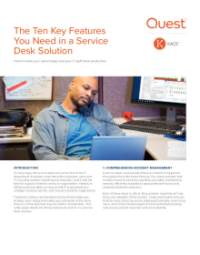 The Ten Key Features You Need in a Service Desk Solution