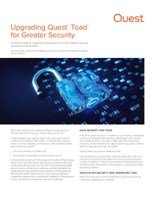 Upgrading Quest Toad for Greater Security