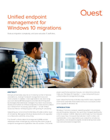 Unified endpoint management for Windows 10 migrations