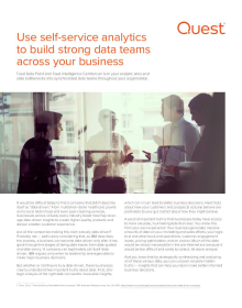 Use Self-service Analytics to Build Strong Data Teams Across your Business
