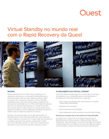 Virtual Standby no mundo real com Rapid Recovery