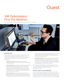 VM Optimization: Find the Balance
