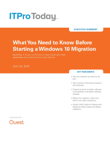 What You Need to Know Before Starting a Windows 10 Migration