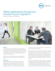 Which applications should you include in your migration? - Identify them easily with Asset Manager