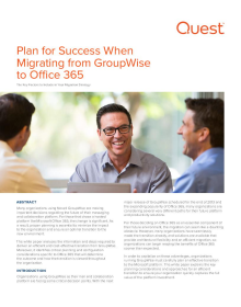 Plan for Success when Migrating from GroupWise to Office 365