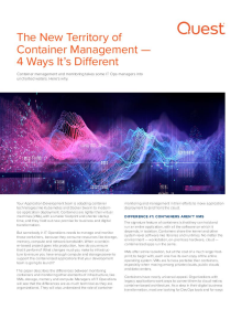 White paper: The new territory of container management — 4 ways it's different